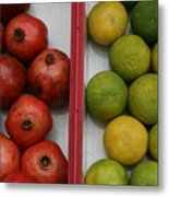 Pomegranate And Sweet Lime Metal Print
