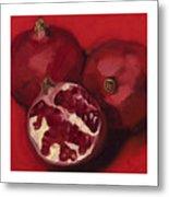 Pomegranite Trio Metal Print