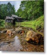 Pond At Mabry Mill Metal Print