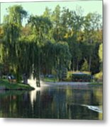 Pond At Mae Stecker Park In Shelby Township Mi  Metal Print