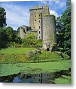 Pond In Front Of A Castle, Blarney Metal Print