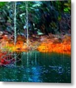 Pond In The Woods Metal Print