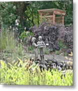 Pond Statue Metal Print