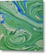 Pond Swirl 1 Metal Print