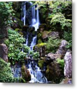 Pond Waterfall Metal Print