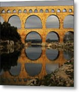 Pont Du Gard Metal Print by Boccalupo Photography