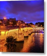 Pont Neuf At Night Metal Print