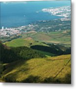 Ponta Delgada And Lagoa Metal Print