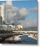 Ponta Delgada Waterfront Metal Print