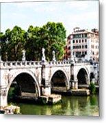 Ponte Saint' Angelo, Rome Metal Print