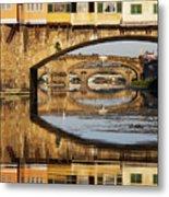 Ponte Vecchio Crossing The River A Metal Print