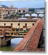 Ponte Vecchio From Uffizi                Metal Print