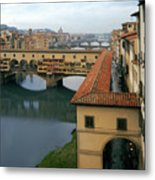 Ponte Vecchio Metal Print by Warren Home Decor