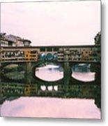 Ponte Vecchio Sunset Photograph Metal Print