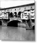 Ponte Vicchio Bridge In Florence Italy - C 1905 Metal Print