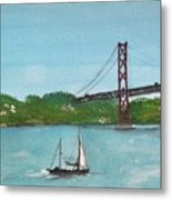 Ponte Vinte E Cinco De Abril Metal Print