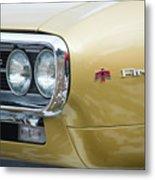 Pontiac Firebird Gold 1967 Metal Print