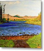 Pontoosuc Lake Pittsfield Massachusetts Metal Print