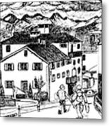 Pontresina Switzerland Metal Print