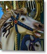 Pony Carrsouel Portrait Metal Print