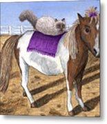 Pony Lil And Cat Annie Metal Print