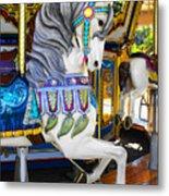 Pony Carousel - Pony Series 5 Metal Print