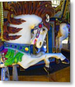 Pony Carousel - Pony Series 6 Metal Print