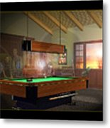 Pool Ghosts Metal Print