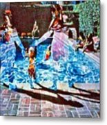 Pool Party Sold Metal Print