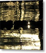 Pool Reflections Four Metal Print
