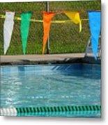 Pool Side  Metal Print