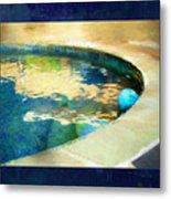 Pool With Blue Ball Metal Print