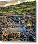 Pools And Waterfalls Metal Print