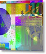 Pop-art Colorized One Hundred Euro Bill Metal Print