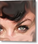 Pop Art Eyes Metal Print