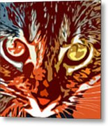 Eyes Of The Kitty Metal Print