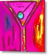 Pop Art Martini  Pink Neon Series 1989 Metal Print