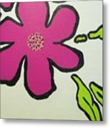 Pop Art Pansy Metal Print