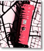Pop Art Pillar Post Box Metal Print