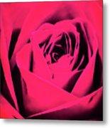 Pop Art Rose Metal Print