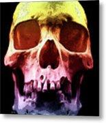 Pop Art Skull Face Metal Print