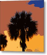 Pop Palms Metal Print