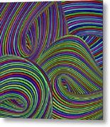 Pop Swirls Metal Print