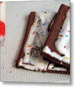 Pop Tarts And Milk Metal Print