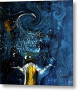 Pop The Champagne Top By Lisa Kaiser Metal Print