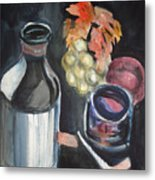 Pop The Cork Metal Print