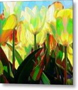 Popart Tulips Metal Print