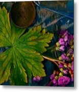 Popart With Fantasy Flowers Metal Print