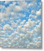 Popcorn Clouds Metal Print