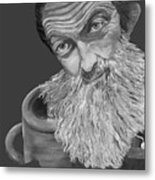 Popcorn Sutton Black And White Transparent - T-shirts Metal Print
